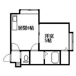 北海道札幌市清田区真栄三条2丁目の賃貸アパートの間取り