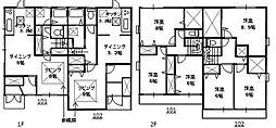 [テラスハウス] 埼玉県さいたま市中央区大戸3丁目 の賃貸【埼玉県 / さいたま市中央区】の間取り