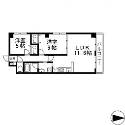 HERITAGE徳庵(ヘリテージ)[206号室号室]の間取り