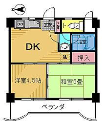 レジデンス・オーク[402号室]の間取り