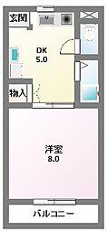 川崎ハイツII[202号室]の間取り