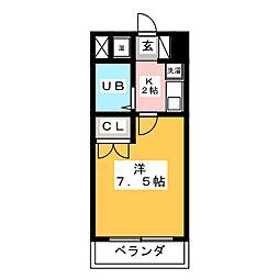 アゼリアコート福沢[7階]の間取り