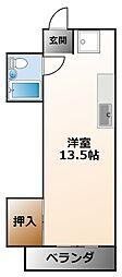 ドミトリー甲子園[5階]の間取り
