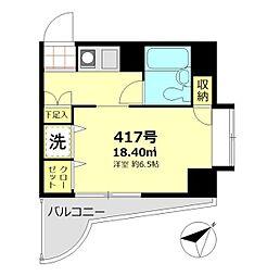 東京都大田区仲六郷3丁目の賃貸マンションの間取り
