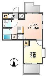 置地マンション[4階]の間取り