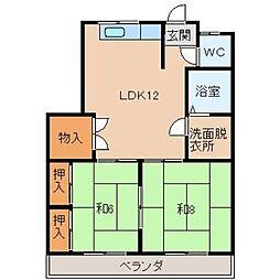 松原マンション[3階]の間取り