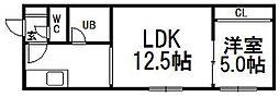 アルティミス東札幌[1階]の間取り