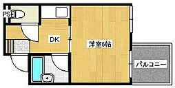 プチプルージュ[3階]の間取り