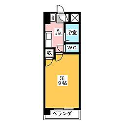 ピュアグリーン高社[4階]の間取り