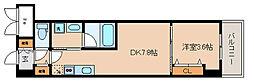 神戸市海岸線 みなと元町駅 徒歩3分の賃貸マンション 4階1DKの間取り