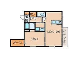 仮)和歌山市五番丁ヘーベルメゾン[2階]の間取り