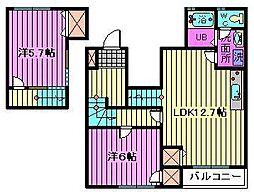 メゾン花水木[2階]の間取り