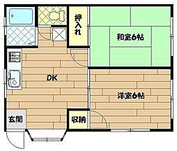 エクセレント梅沢[102号室]の間取り