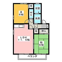 フォレスト蟹子[2階]の間取り