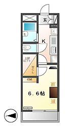 レオパレス柳堀町[3階]の間取り