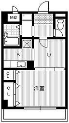 カサグランデ服部[2階]の間取り