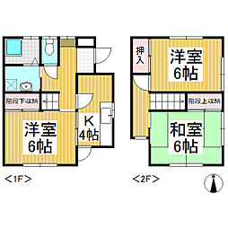 [テラスハウス] 長野県長野市川中島町上氷鉋 の賃貸【/】の間取り