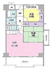 大阪府堺市堺区宿屋町西3丁の賃貸マンションの間取り