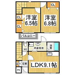 [テラスハウス] 長野県塩尻市大字広丘吉田 の賃貸【/】の間取り