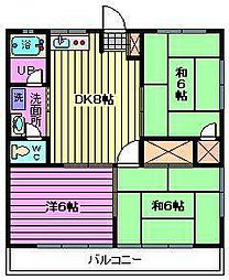 石井マンションI[202号室]の間取り