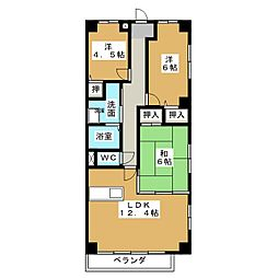 ガーデンテラス加藤二番館[3階]の間取り