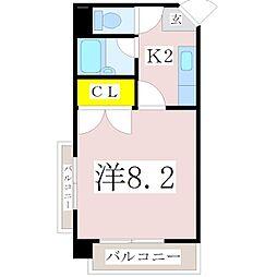 第2山元孝二ビル[A301号室]の間取り
