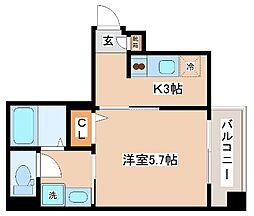 JR東海道・山陽本線 神戸駅 徒歩12分の賃貸マンション 7階1Kの間取り