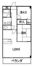 エスポワール鷺[2-B号室号室]の間取り