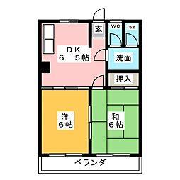メゾンマル勇[3階]の間取り
