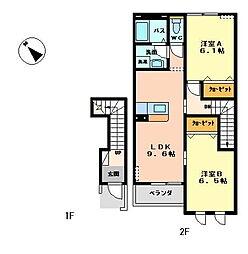ノルン[2階]の間取り