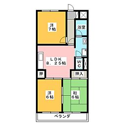 Kyoei Bld[3階]の間取り