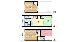 [テラスハウス] 大阪府豊中市南桜塚1丁目 の賃貸【/】の間取り