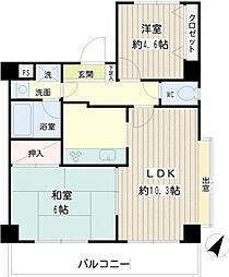二俣川駅徒歩8分ペット不可 二俣川YSマンション204号室[2階]の間取り
