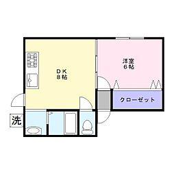 レイクサイド千鶴佳[1階]の間取り