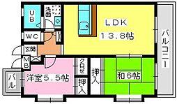 ミ・カーサ香椎[3階]の間取り
