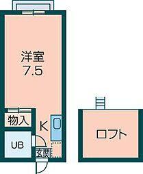 エステートピア今井パートII[210号室]の間取り