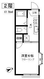 東京都目黒区緑が丘1丁目の賃貸アパートの間取り