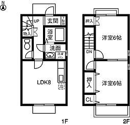 [テラスハウス] 愛知県春日井市気噴町3丁目 の賃貸【/】の間取り