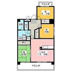 清幸マンション野田[2階]の間取り