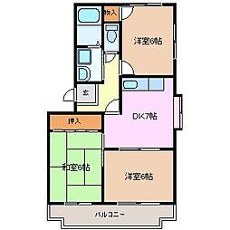 シャルマン 南棟[1階]の間取り