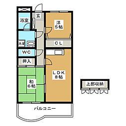 スワンマンション東箱崎[2階]の間取り