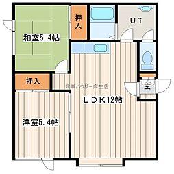 コーポ・ラーチ[2階]の間取り