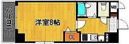 福岡県福岡市中央区港2丁目の賃貸マンションの間取り