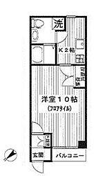 カンパニーレ横浜[1005号室]の間取り