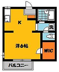 ステーションハウスB[103号室]の間取り