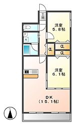 ロフティー上野[3階]の間取り