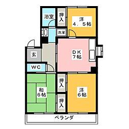 レジデンス清風[3階]の間取り