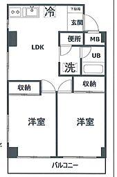栄広クリアシティ第二[3階]の間取り