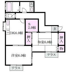 [一戸建] 東京都杉並区南荻窪4丁目 の賃貸【/】の間取り