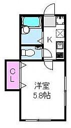 オネスティ松戸[101号室号室]の間取り